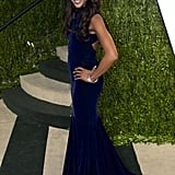 Naomi Campbell arrived at the Vanity Fair Oscar party.
