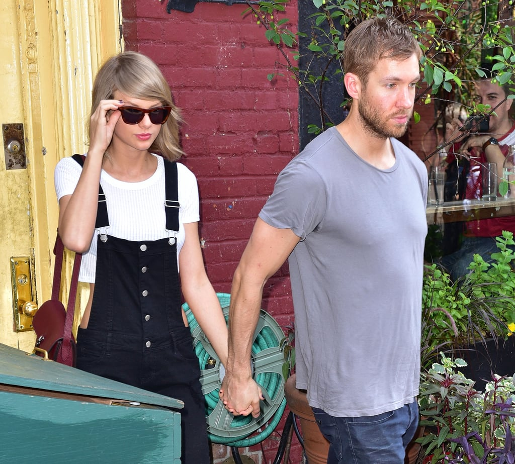 Later, Taylor met up with Calvin Harris for daytime date at the Spotted Pig.