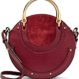 Chloé Pixie Textured-Leather and Suede Bag
