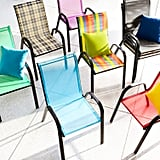 Rainbow Stripe Sling Dining Chair