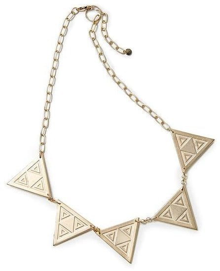 Channel the global trend with this geometric Hive & Honey triangle link necklace ($34).