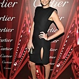 Charlize Theron wore a black dress (complete with cutout) at the Palm Springs International Film Festival back in January.