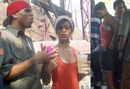 Photos of Rihanna and Chris Brown at Paramount's Kings Dominion in Virginia