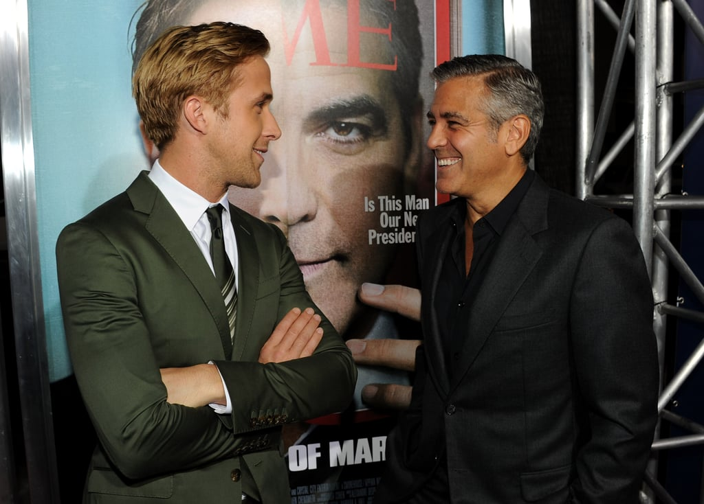 Ryan and George chatted on the red carpet.