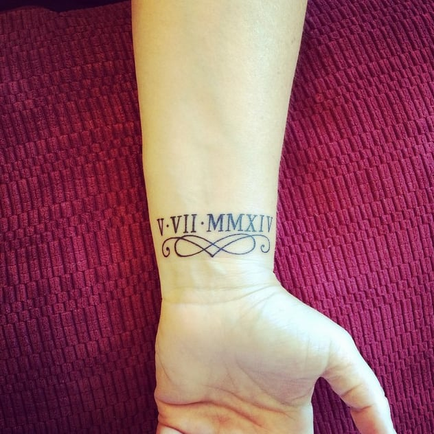 Beautiful Bracelet 30 Roman Numeral Tattoos That Will