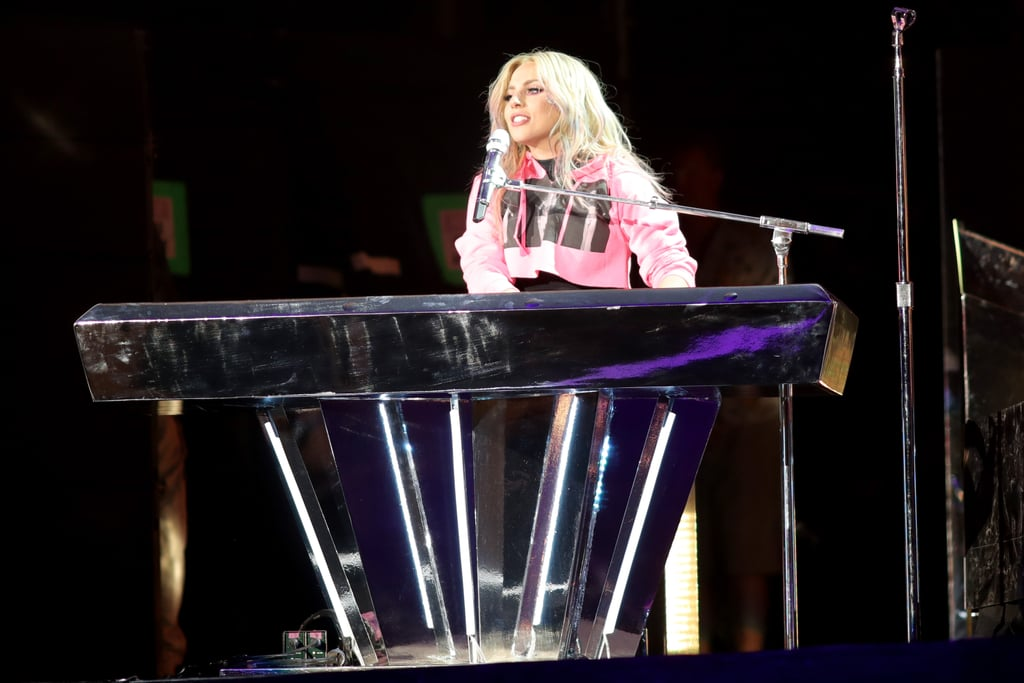 """Lady Gaga hit the stage at Coachella last weekend, and to say she killed it is an understatement. The Joanne singer kicked off the show with """"Scheibe"""" before launching into a medley of her hits, including """"Alejandro,"""" """"Bad Romance,"""" and """"Just Dance."""" Gaga first appeared in a leather outfit and later stripped off the outer layer to reveal a black bodysuit and leggings. After her 18-song set, Gaga surprised fans when she introduced a new song to the crowd, saying, """"I've been so excited for this next part of the show because I've been trying to keep it a secret for so long. I've been in the studio and I'd like to debut a brand new song, 'The Cure.'"""" The track is a change from her previous album, but we have a feeling you'll be playing it loudly all Summer. Gaga returned to Coachella on Saturday for weekend two and touched hearts with her beautiful tribute to longtime friend Sonja Durham, who is battling stage IV cancer. During her set, Gaga dedicated an acoustic version of her song """"The Edge of Glory"""" to Sonja, telling the crowd, """"My friend Sonja is very sick and I love her so much and if it's okay with you, I'd like to sing this song for her."""" Sonja used to work as Gaga's assistant, and the two have been friends for almost ten years. Gaga also helped plan and attended Sonja's wedding to Andre Dubois back in March. Watch her emotional tribute below.   Touching moment @coachella tonight when @ladygaga dedicated a song to her friend battling cancer 🙏🏼 #LadyGaga #Coachella #Gagachella pic.twitter.com/dAM4oDK4i0 — Quinn (@RedFlagsLadies) April 23, 2017"""