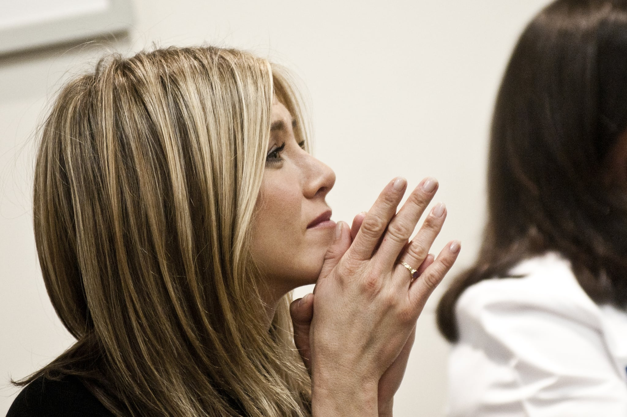 Jennifer Aniston has been focused on breast-cancer awareness in recent weeks.