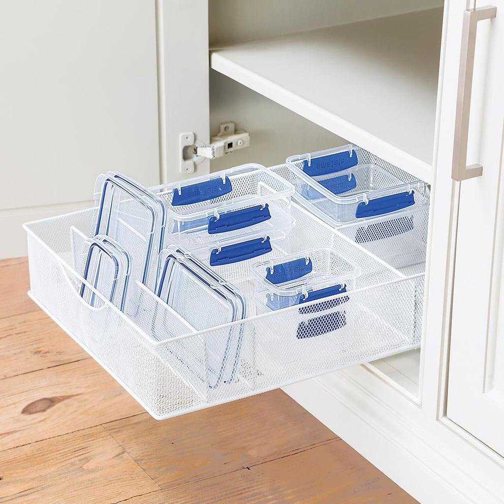 White Mesh Food Storage & Lid Organizer