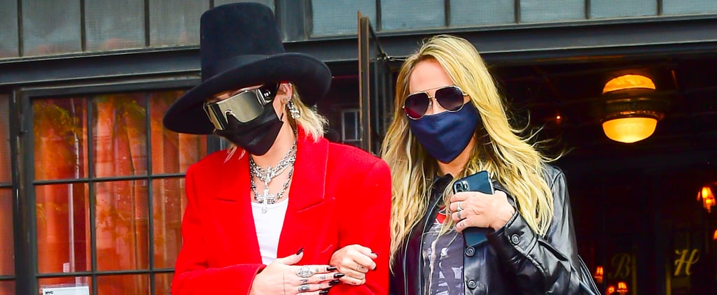 Miley Cyrus and Her Mom Tish Wear Designer Looks in New York
