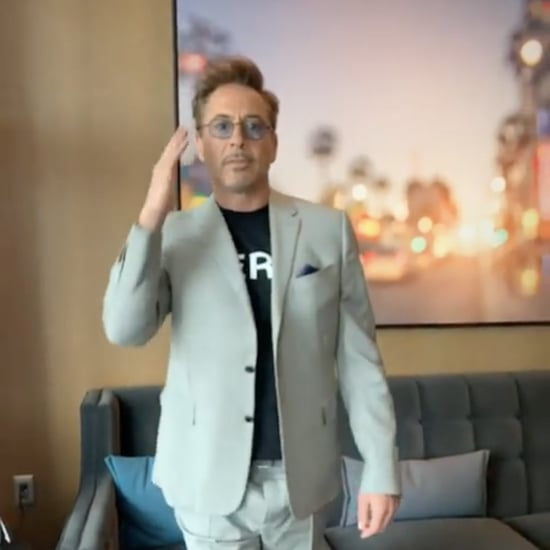 Robert Downey Jr. Dancing During Avengers Press Tour