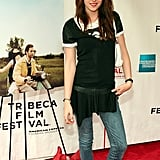 Kristen Stewart struck a pose on the red carpet of The Cake Eaters premiere at the Tribeca Film Festival in April 2007.