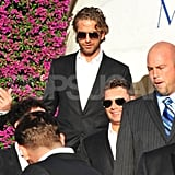 Gerard Butler and Ryan Seacrest at Ryan Kavanaugh's wedding.
