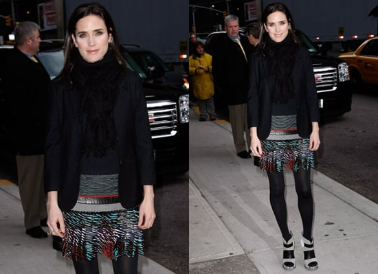 Photos of Jennifer Connelly on David Letterman in New York City