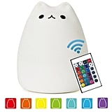 NeoJoy Remote Control Silicone Kitty Night Light