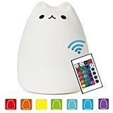 NeoJoy Remote Control Silicone Kitty Night Light