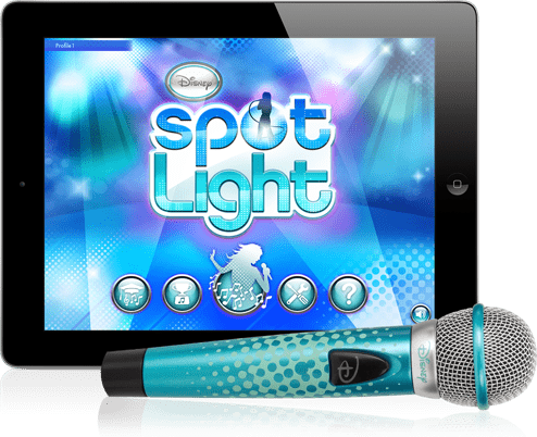 For 8-Year-Olds: Disney Spotlight Digital Wireless Mic + Karaoke App