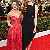 Maisie Williams (Arya Stark) and Sophie Turner (Sansa Stark)