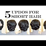 5 No-Heat Updos For Short and Medium-Length Hair