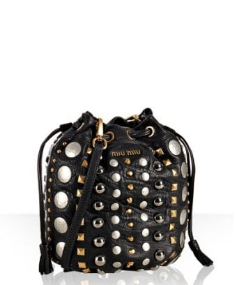 The Look For Less: Miu Miu Lambskin Studded Mini-Bag