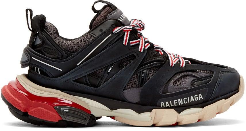 Balenciaga Black & Grey Track Sneakers