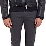 Acne Studios Leather Biker Jacket — Blue ($1,450)