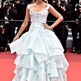 Wearing a Vivienne Westwood gown to the 2016 Cannes Film Festival.