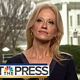 "Here's the clip of Kellyanne Conway calling Sean Spicer's comments ""alternative facts."""