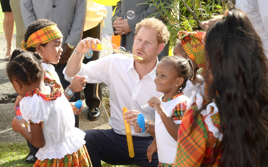 When He Blew Bubbles With Kids in the Caribbean