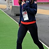 Kate wore a pair of bright red Adidas trainers when she attended the London 2012 Paralympic Games in August 2012.