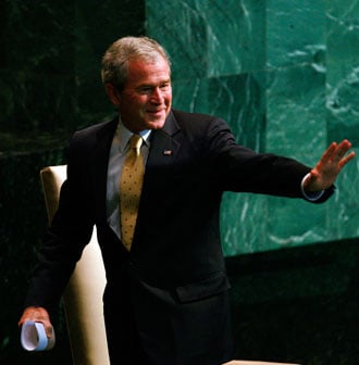 Bush Touts Religious Freedom and US Record at UN