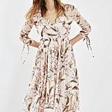 Topshop Mesh Midi Dress