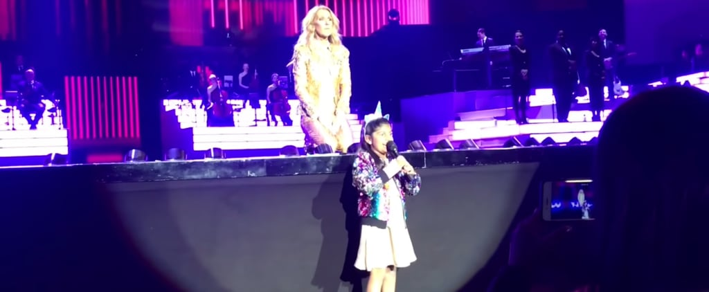 Video of Girl Singing at Celine Dion Concert