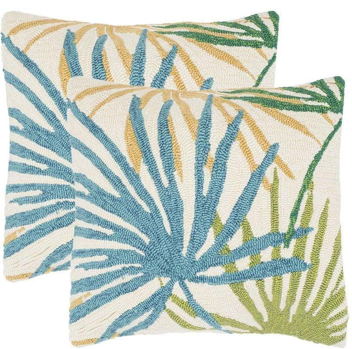 Tropical Flower Outdoor Throw Pillow Set 275 Outdoor Throw