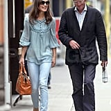 Pippa Middleton walks and talks.