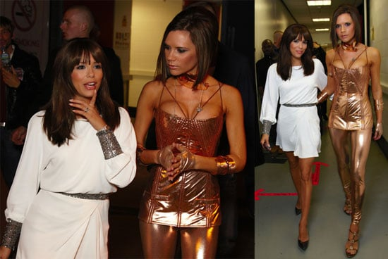 Eva Longoria with Victoria Beckham After Spice Girls Concert