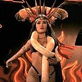 Salma Hayek as Santánico Pandemónium in From Dusk Till Dawn, 1996