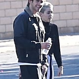 Miley Cyrus and Liam Hemsworth said bye to friends and family.