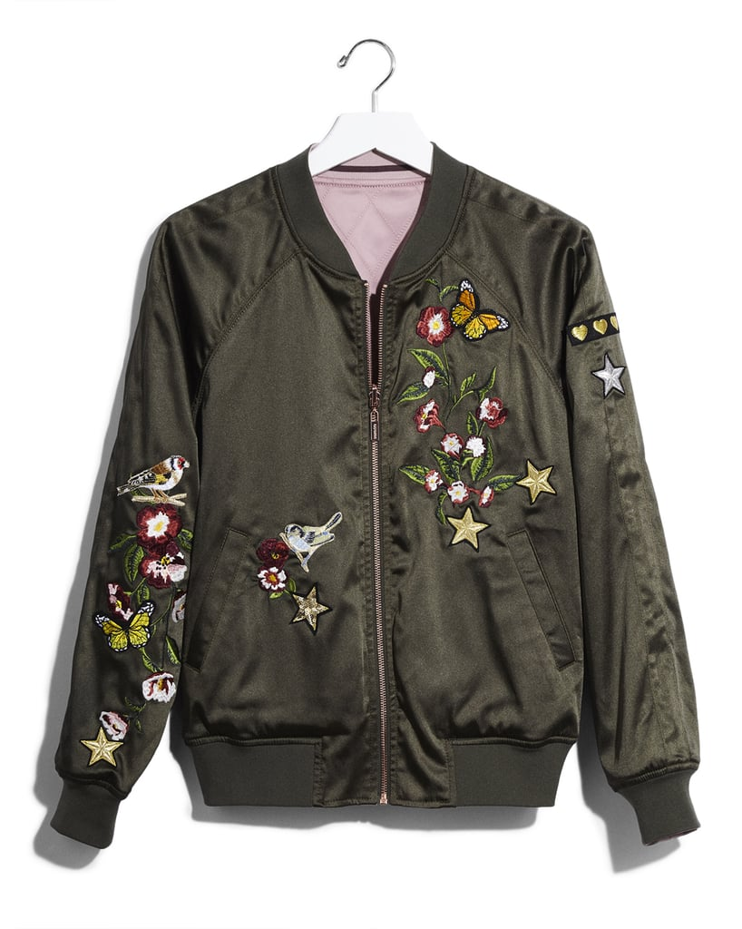 Karlie Kloss x Express Satin Reversible Bomber Jacket ($168)