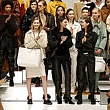 At the End of the Tod's Show, Gigi and Bella Celebrated With the Rest of the Models