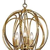 Regina-Andrew Design 3-Bulb Gold Ofelia Chandelier, Medium ($298)