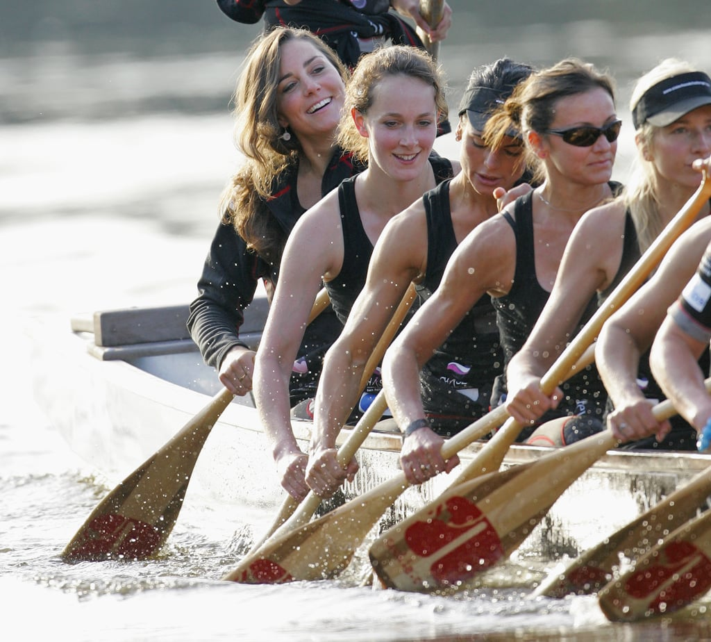 Kate Trained For a Charity Boat Race