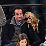 Mary-Kate Olsen watched the game with Olivier.
