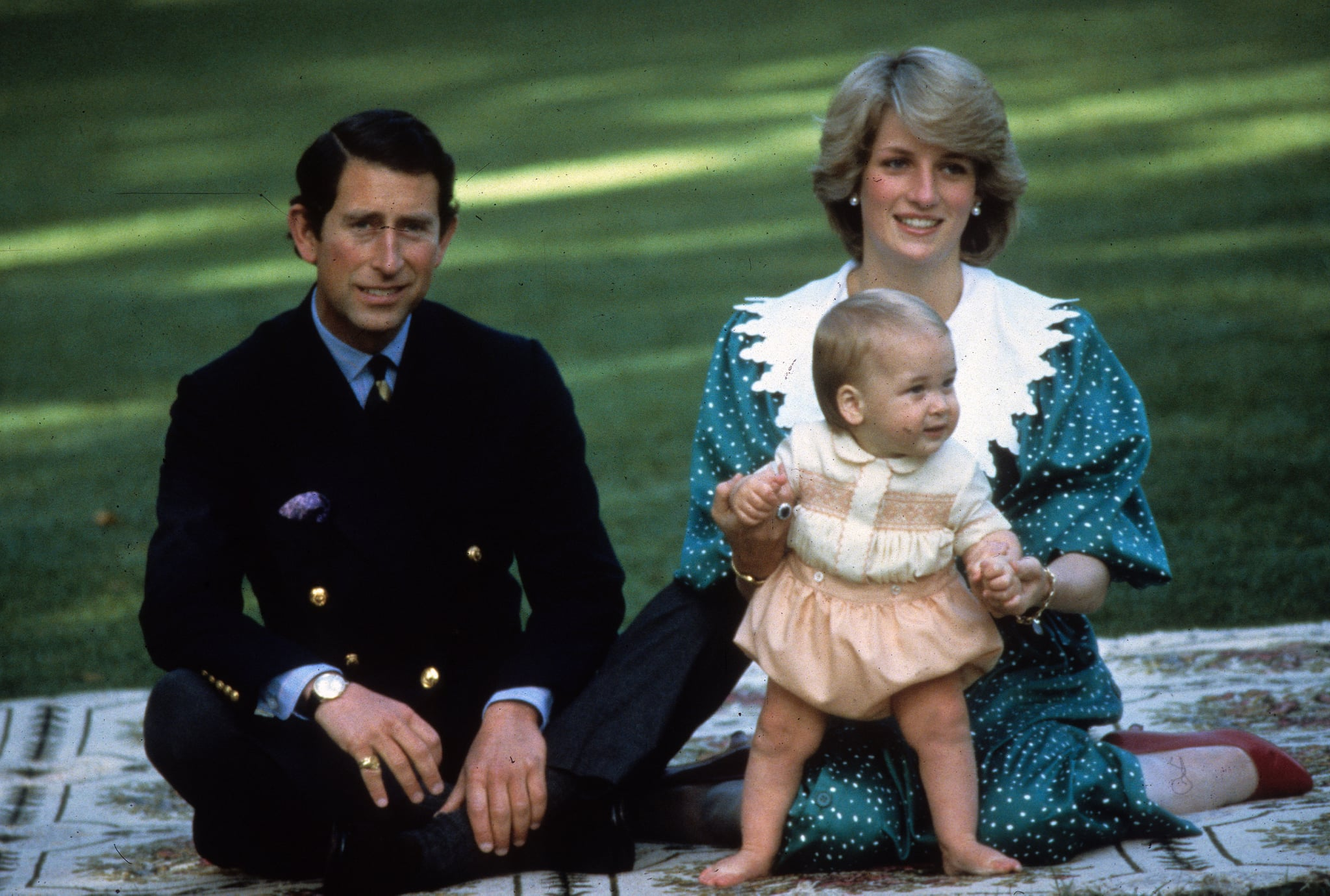 Charles and Diana Introduce William