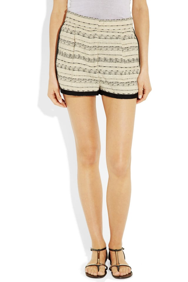 Instead of cutoff shorts, opt for a sleeker pair instead, like these By Malene Birger Sambiara tweed shorts ($134, originally $335).