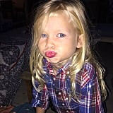 Maxwell's popsicle pout was the perfect accessory to her Fourth of July outfit!