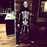 Jared Followill dressed as a very convincing skeleton. Source: Instagram user jaredfollowill