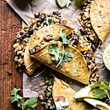 Chipotle Black Bean, Brown Rice and Mango Quesadillas