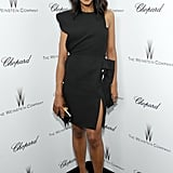 Kerry's number redefined the little black dress — the asymmetrical details were superb.