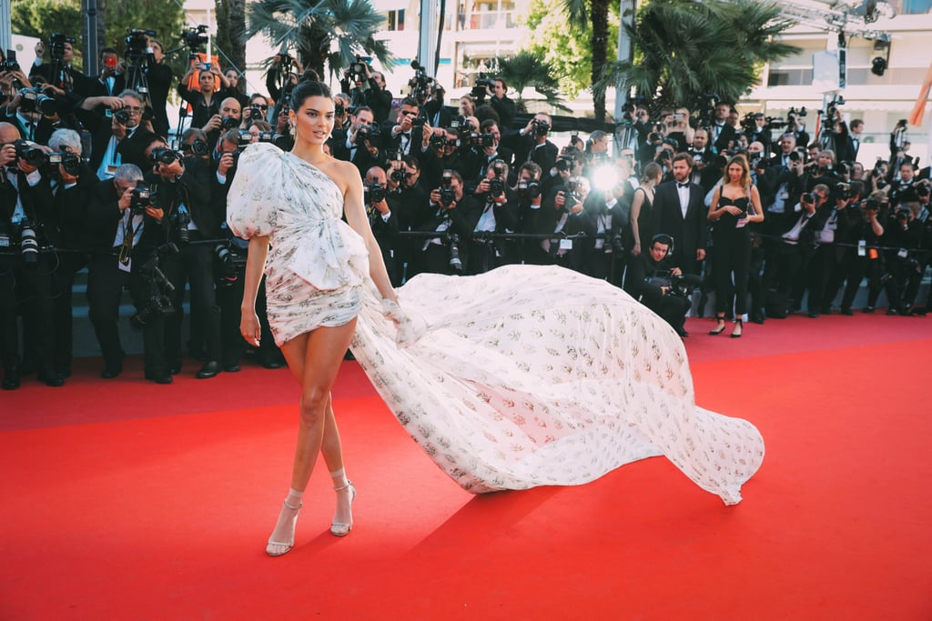 The Long Train of Kendall Jenner's Giambattista Valli Couture High-Low Gown