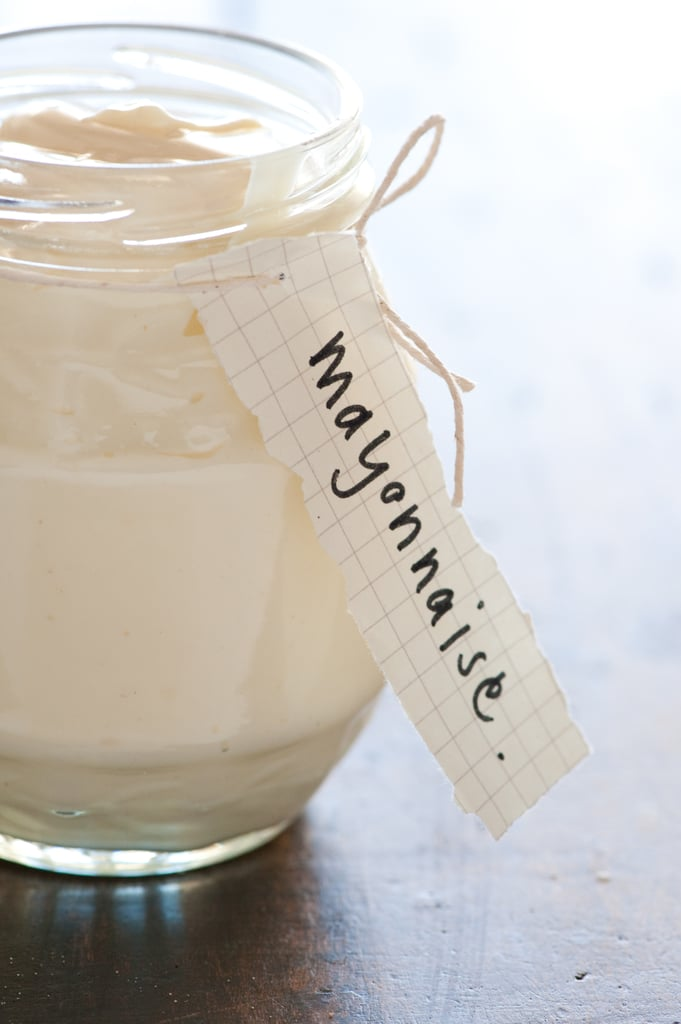 Using mayonnaise as a deep conditioner for healthy hair.